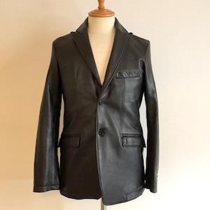 Lamb Leather Tailored Jacket Black