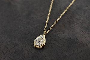 Drop shape  ダイヤモンドネックレス / K18YG