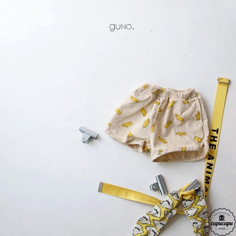 «sold out» guno yellow hand short pants イエローハンド ショート