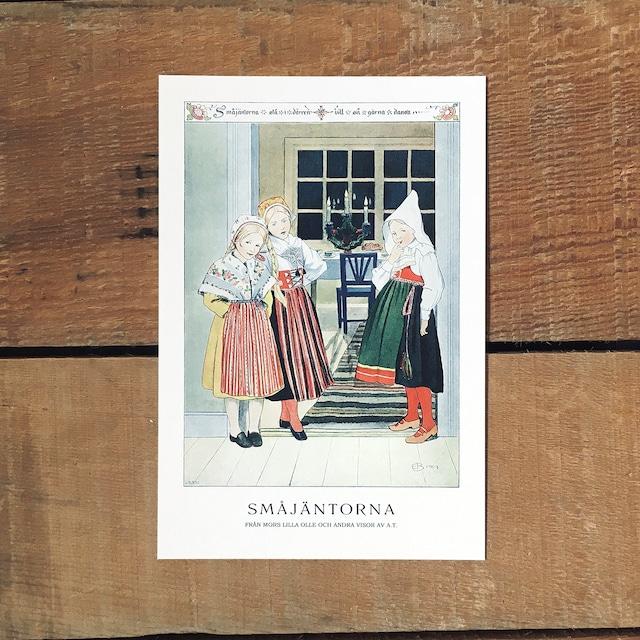 ポストカード「SMÅJÄNTORNA(MORS LILLA OLLE - 07)」