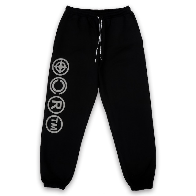 T.C.R TARGET LOGO SET UP PANTS - BLACK