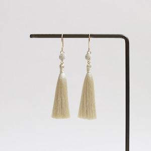 【tassel】ball-S (beige / marron / ivory)