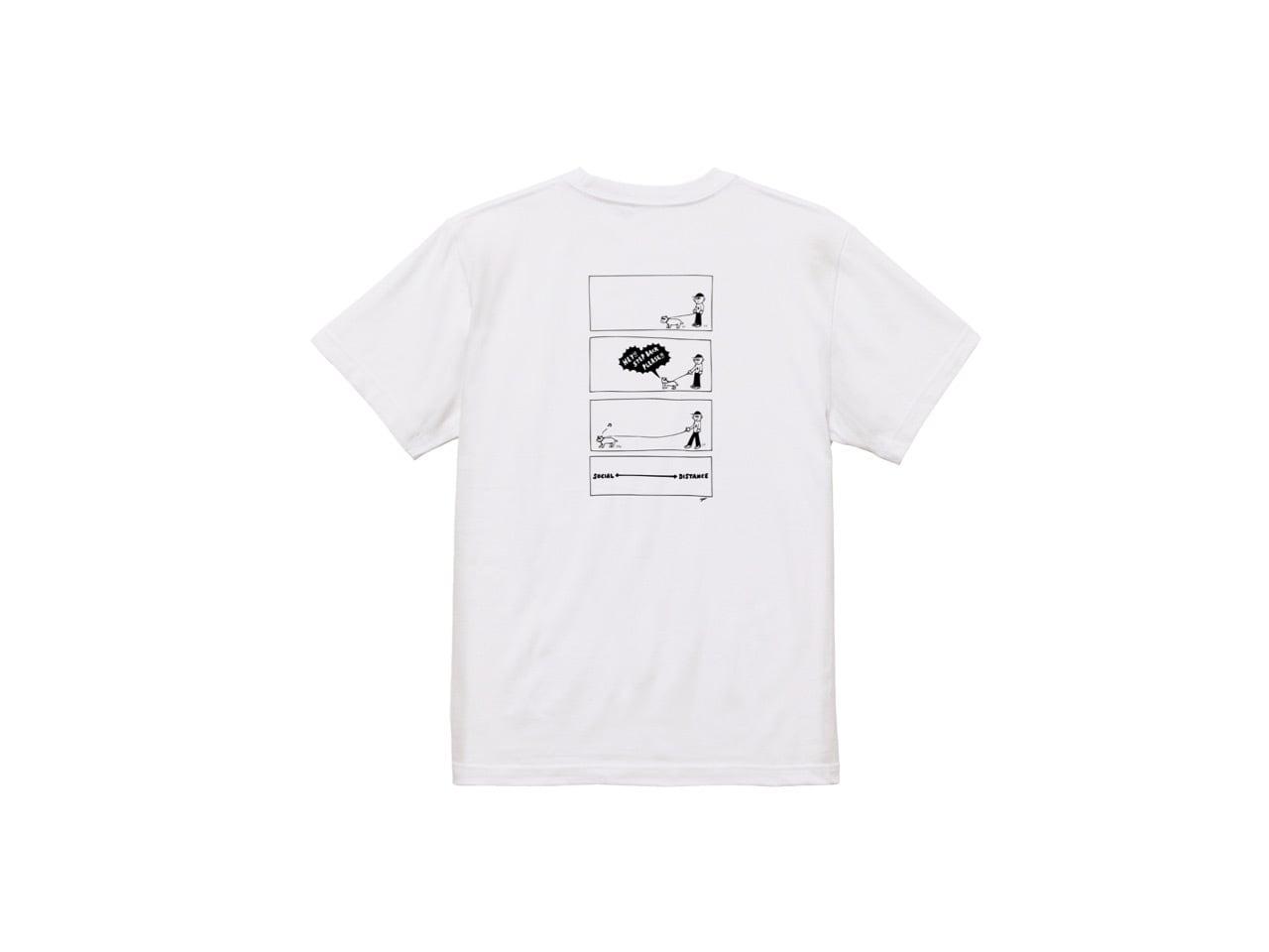 SHI x coguchi dog SD T-shirts (WH/BK)