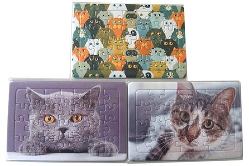 オリジナルジグソーパズル「猫三昧3種類」28ピース