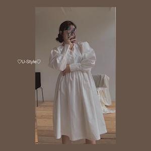 【即納】ホワイトワンピース