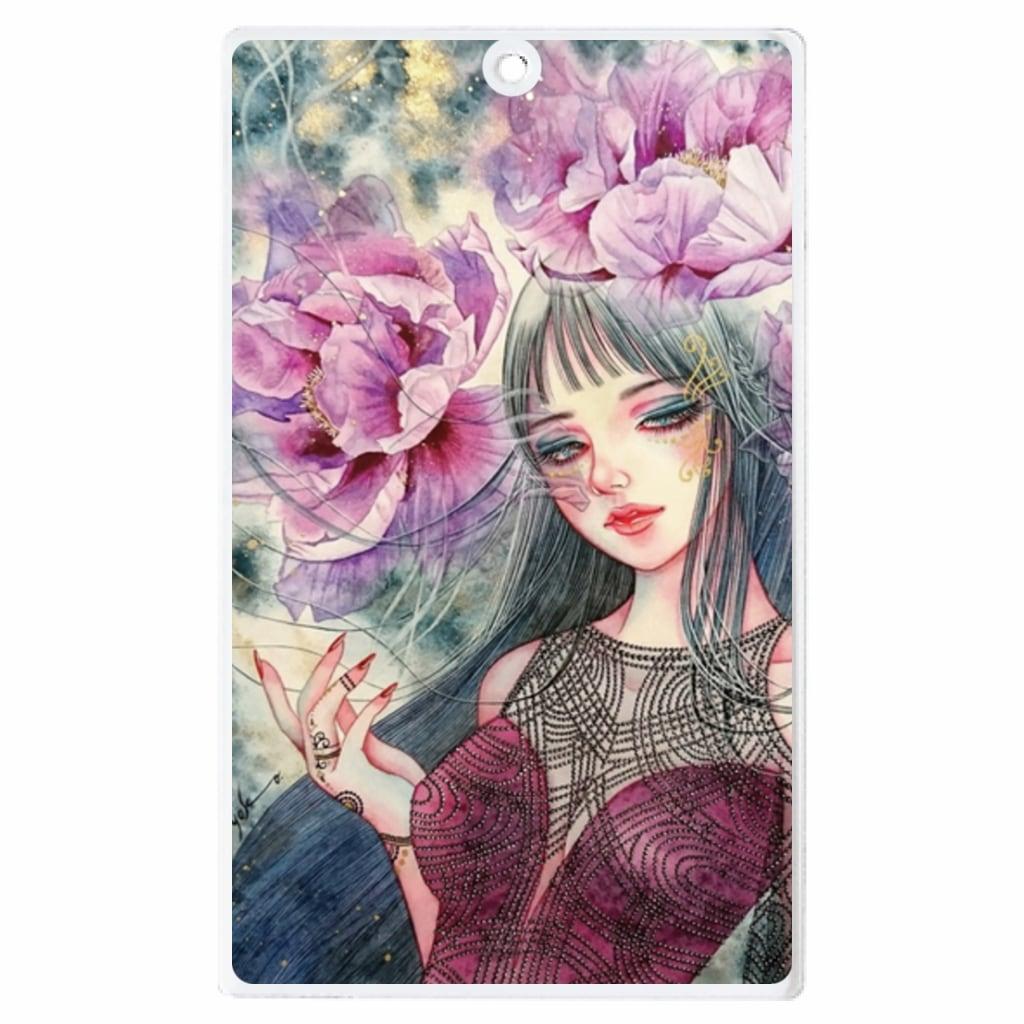 紫牡丹の姫君ーアクリル製キーホルダー