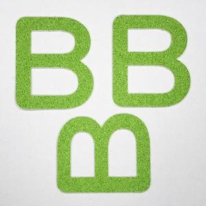 切り文字 A&Cペーパー パルプロックPBR‐006(グリーン) 粘着付 ローマ字「B」
