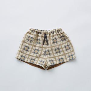 eLfinFolk Amish quilt shorts (beige)110 130  elf-211F13 ※メール便1点までOK