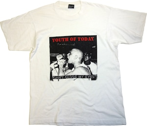 """【L】 80〜90s YOUTH OF TODAY T-SHIRT """"CAN'T CLOSE MY EYES"""""""