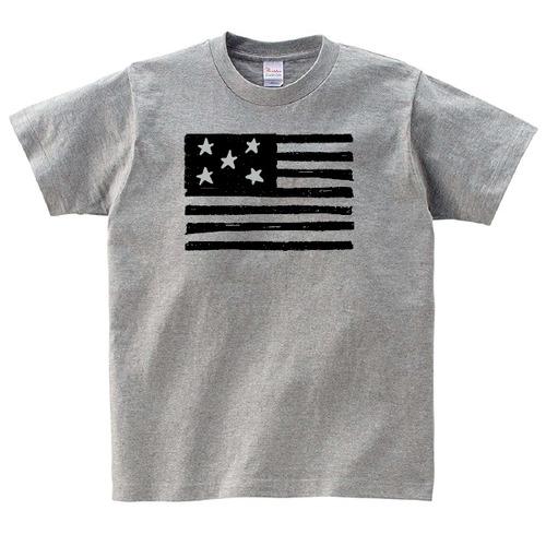 星条旗 Tシャツ メンズ レディース 半袖 アメカジ ゆったり おしゃれ トップス グレー 30代 40代 ペアルック プレゼント 大きいサイズ 綿100% 160 S M L XL