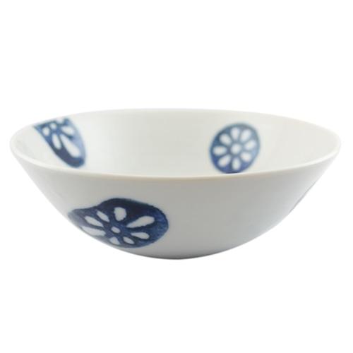 徳永遊心窯 印判蓮根 5寸鉢