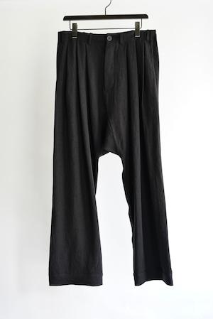 JAN JAN VAN ESSCHE - TROUSERS#65 (BLACK BRUSHED LINEN CLOTH)