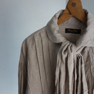 frenchvictorians jardinier linen shirt / antique mocha
