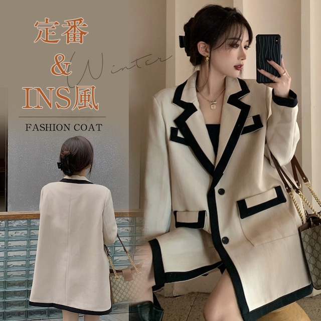 【アウター】韓国系合わせやすい気質溢れる新作折り襟大好評スーツジャケット33670602