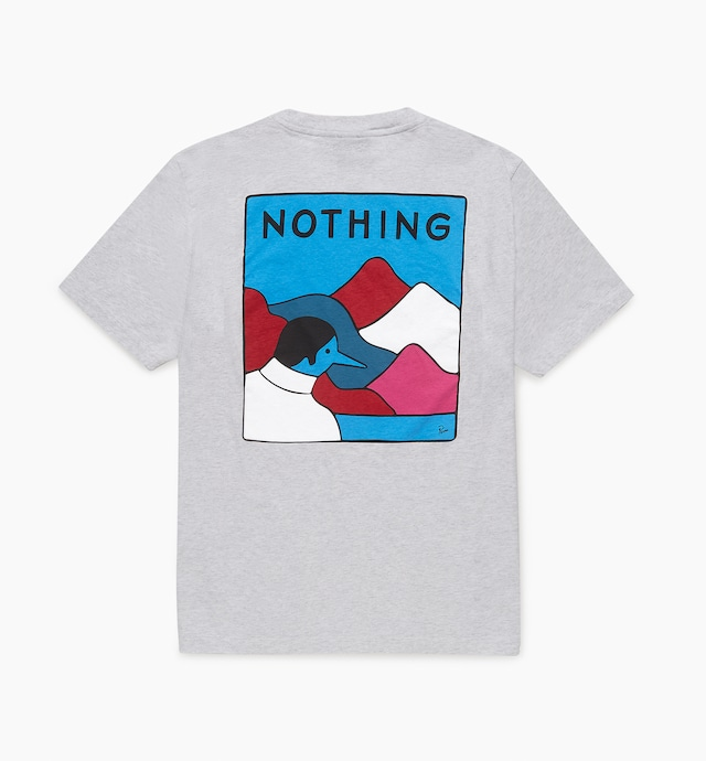 BY PARRA NOTHING T-SHIRT ASH GREY