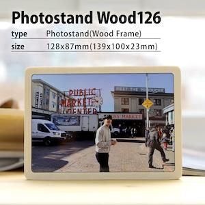 オーダーフォトフレーム木材126(木目フレームM/L判相当)/ウッドフォトフレーム/写真プリント