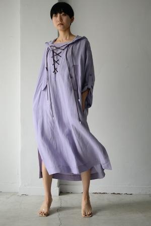 G.V.G.V. / HOODED SMOCK DRESS (purple)