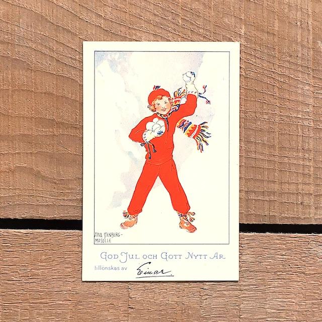 ミニ・クリスマスカード「Aina Stenberg(アイーナ・ステーンベリィ)」《201126-02》
