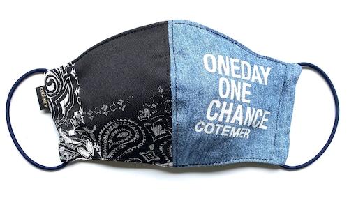 【COTEMER マスク 日本製】ONE DAY ONE CHANCE DENIM × PRINT MASK 0520-137