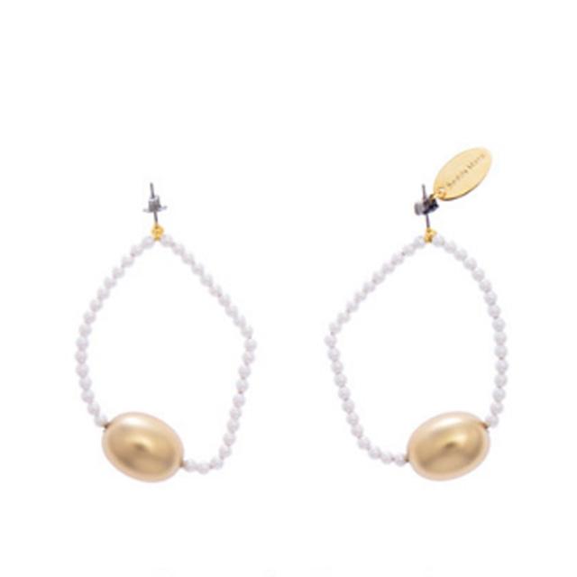 Sead's Mara/シーズマーラ Ovate ball pearl earring・pierce 21A3-60