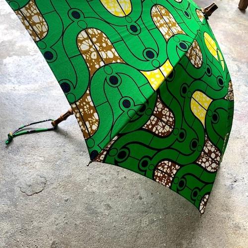 BonBonStore|アフリカンバティック長傘C(日傘)
