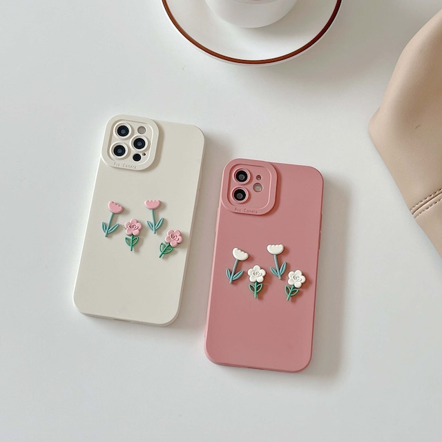 one-point flower iphone case