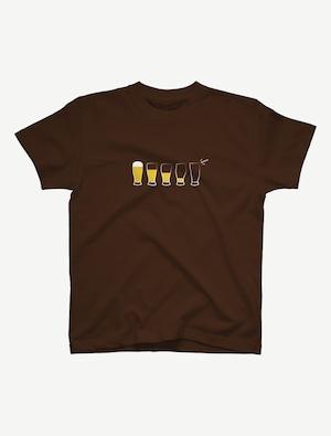 【モア・ビア】Tシャツ(ダークブラウン)