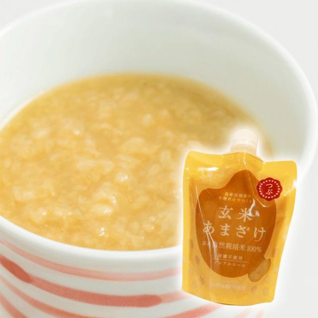 マルカワみそ 自然栽培 玄米あまざけ つぶ 200g 国産有機米 甘酒 ノンアルコール ノンシュガー[宅急便]
