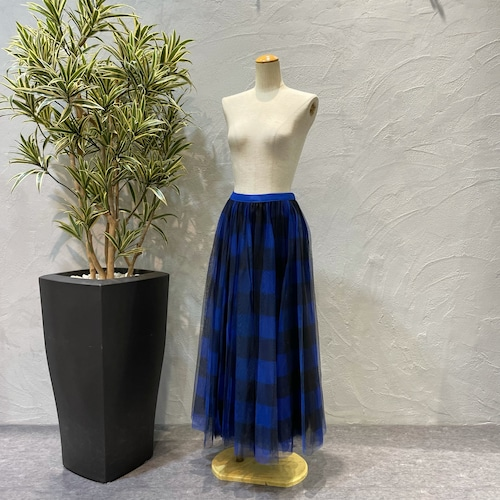 ROSIEE/ブロックチェックフレアスカート