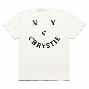 CHRYSTIE NYC SMILE LOGO TEE WHITE M クリスティーニューヨーク Tシャツ