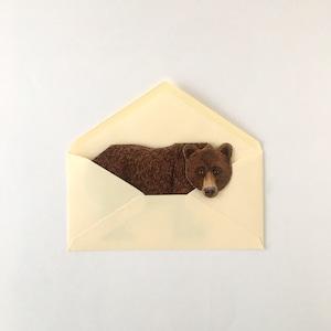 """動物の立体カード「クマ」 Animal Folding Card """"Bear"""""""