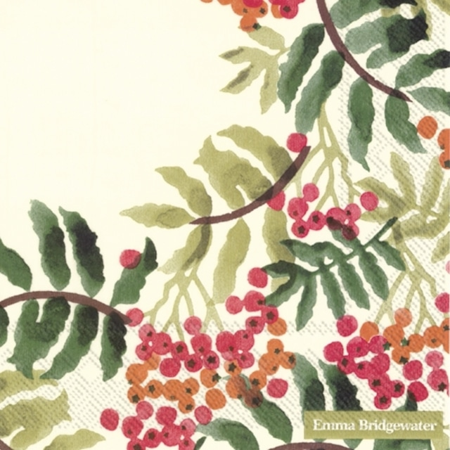 2021秋冬【Emma Bridgewater】バラ売り2枚 ランチサイズ ペーパーナプキン ROWAN クリーム