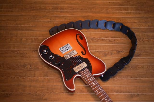 folklore -premium-  / Black【ウロコのようなギターストラップ 】