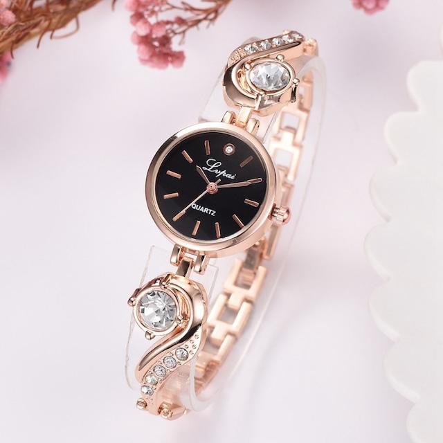 LVPAI LT-R1787(gold-black) レディース腕時計