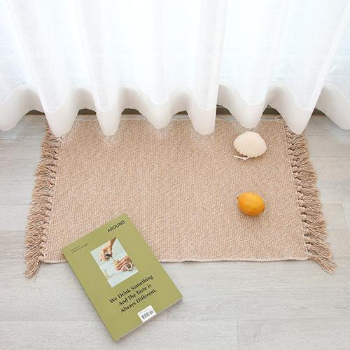tassel foot mat / タッセル フットマット ラグ 韓国 北欧