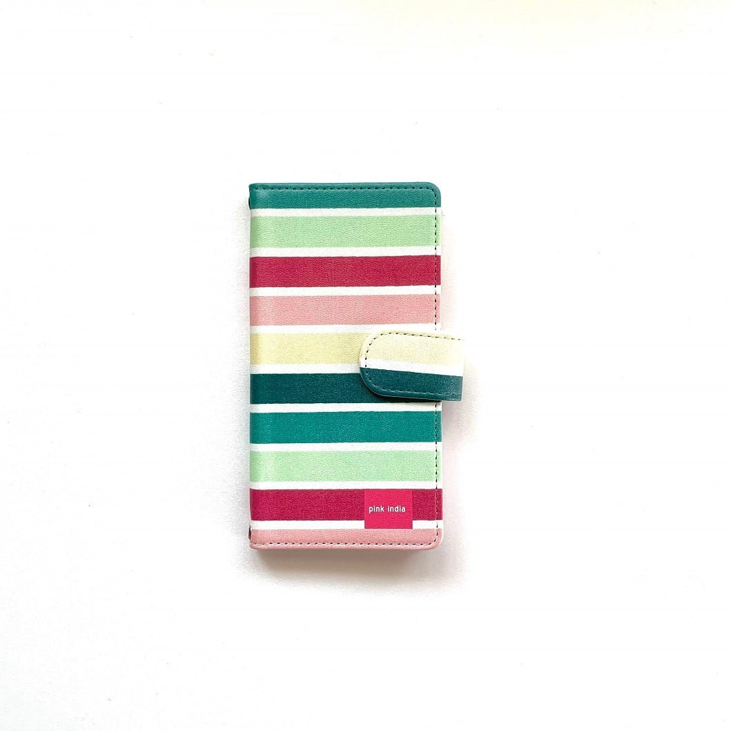 北欧デザイン iPhone手帳型ケース  | gp multi stripe
