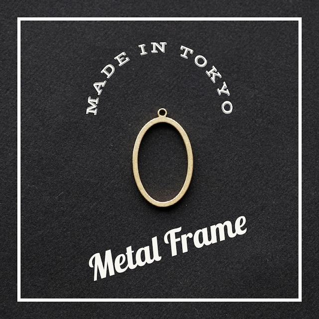 【2個】レジンフレーム 楕円形(日本製、真鍮、生地)