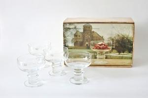 vintage ARABIA HERTTUA dessert bowl 4p gift set   /  ヴィンテージ アラビア ヘルットゥア デザートボウル ギフト箱入り4個セット