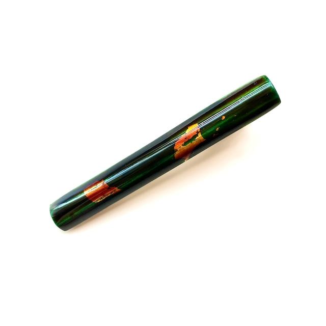 HC004 飛騨春慶のヘアクリップ 緑箔