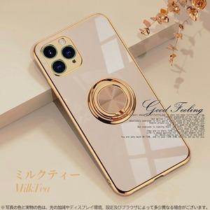 高級メッキ リング付きiPhoneケース