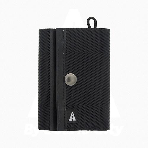 A WALLET (3つ折り財布)・Black × Black