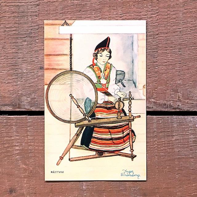民族衣装カード「RÄTTVIK(NATIONAL BILDER - 06)」《201219-01》