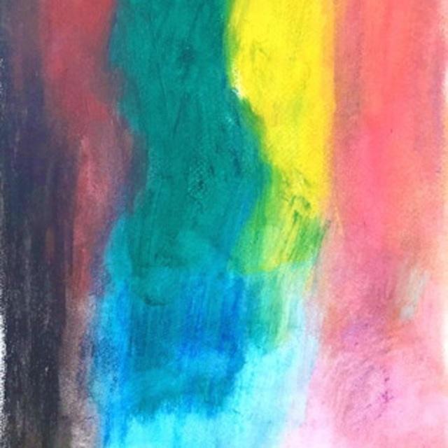 絵画 絵 ピクチャー 縁起画 モダン シェアハウス アートパネル アート art 14cm×14cm 一人暮らし 送料無料 インテリア 雑貨 壁掛け 置物 おしゃれ 現代アート 抽象画 ロココロ 画家 : Mitsuo Ito 作品 : 雨のち晴れ