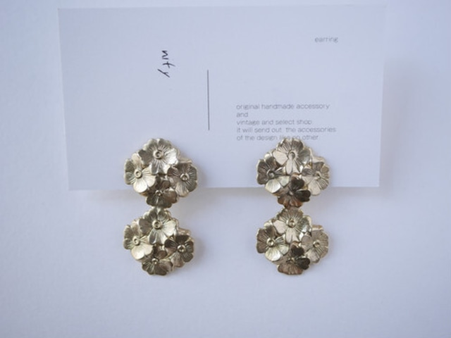 【nity】select09 ピアス or イヤリング eight flower_vintage_l _gold