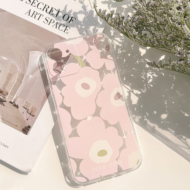 Pale pink flowers iphone case