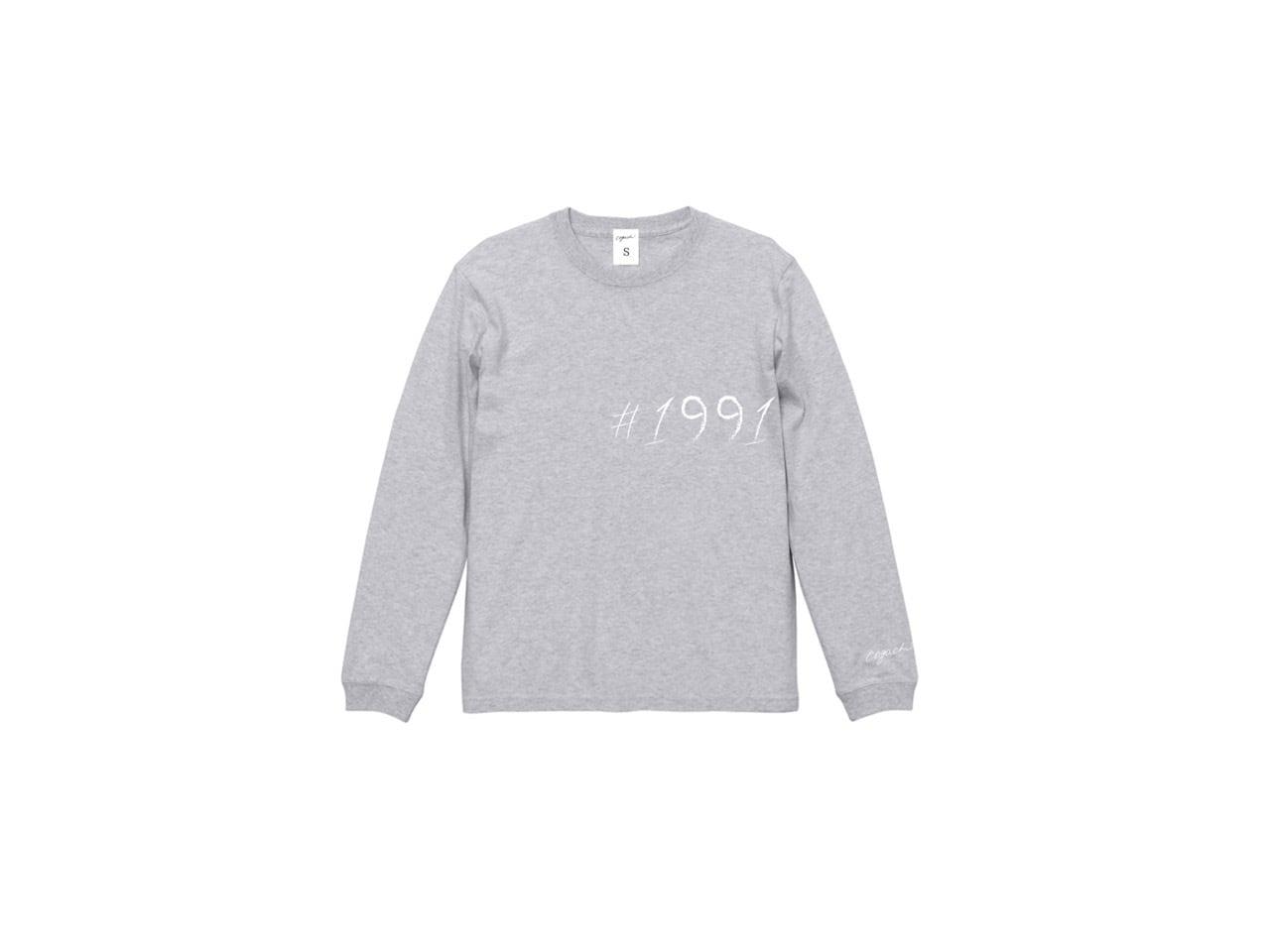 1991 big logo pastel long T-shirts (GRY)