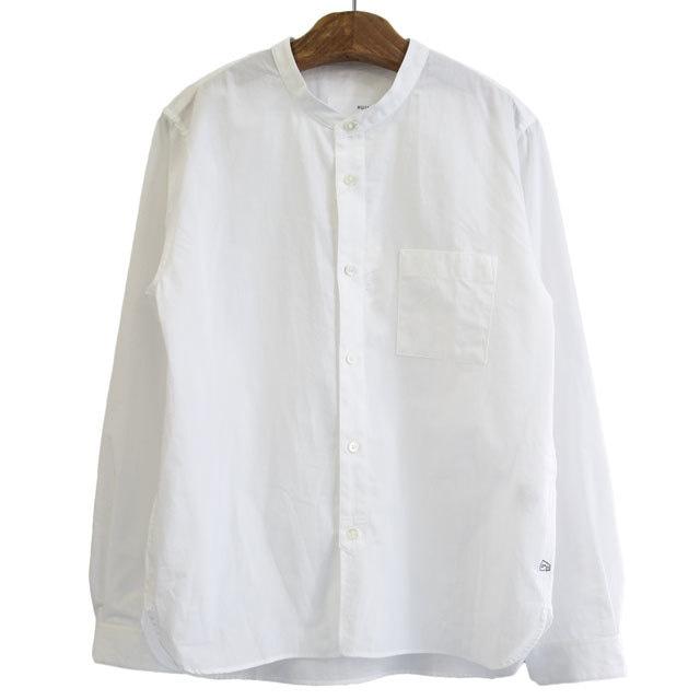 HUIS ハウス 遠州織物 ユニセックス バンドカラ―シャツ 005W