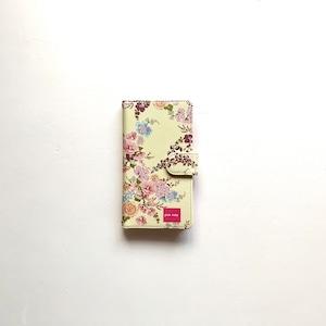 北欧デザイン Android対応手帳型マルチケース  | yellow flower