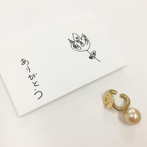 K18 momento-ear-cuff  手描きの絵刻印イヤカフ