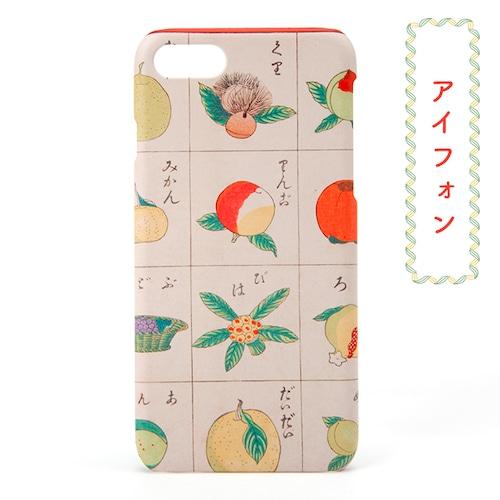和柄レトロiPhoneケース「果物」
